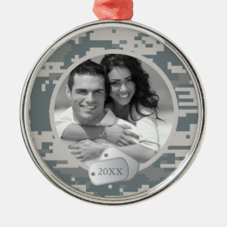 Army ACUs and Dog Tags Metal Ornament