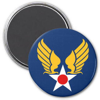 Army Air Corps 7.5 Cm Round Magnet