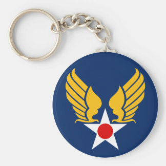 Army Air Corps Basic Round Button Key Ring