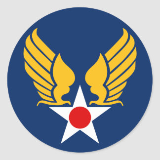 Army Air Corps Round Sticker