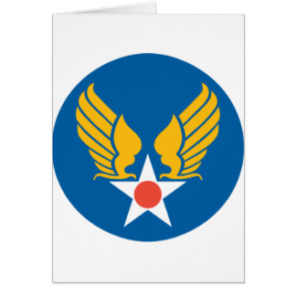Army Air Corps Shield Greeting Cards