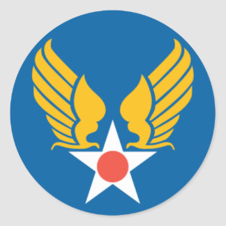 Army Air Corps Shield Round Sticker