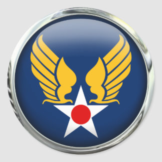 Army Air Corps Round Stickers