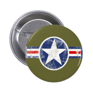 Army Air Corps Vintage 6 Cm Round Badge
