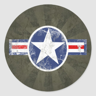 Army Air Corps Vintage Classic Round Sticker