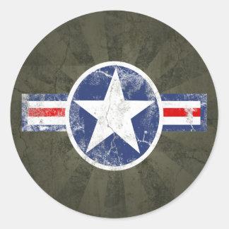 Army Air Corps Vintage Round Sticker