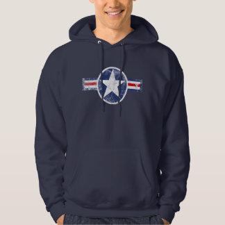 Army Air Corps Vintage Star Patriotic Hoodie