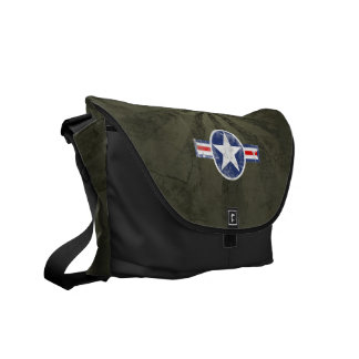 Army Air Corps Vintage Star Patriotic Messenger Bags