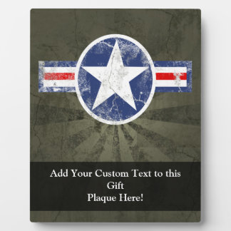 Army Air Corps Vintage Star Patriotic Display Plaque