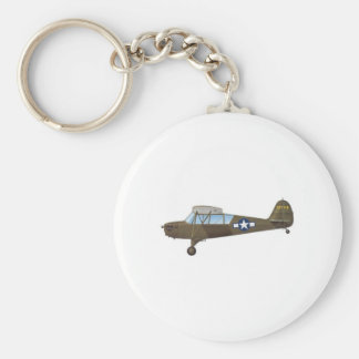 ARMY AIR FORCE BASIC ROUND BUTTON KEY RING