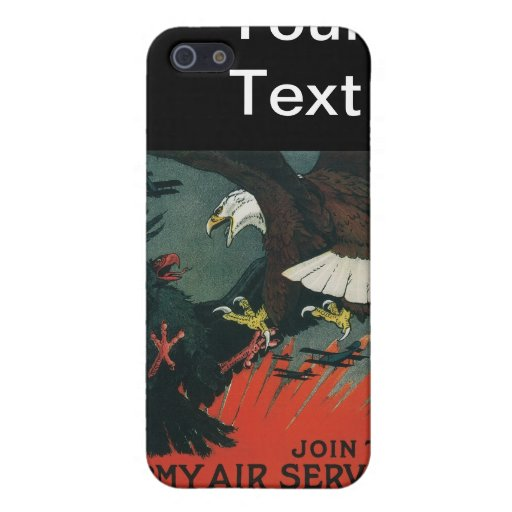 Army Air Service Vintage WWI Poster iPhone 5 Case