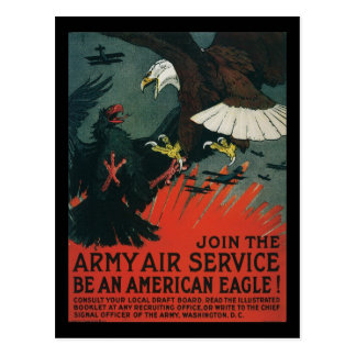 Army Air Service Vintage WWI Poster Post Cards
