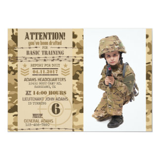 Army boot camp invitations announcements zazzle army arid camouflage military birthday card bookmarktalkfo Image collections