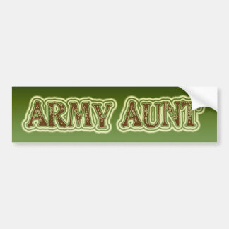 Army Aunt Bumper Sticker