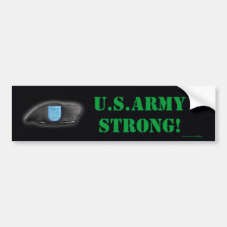 army beret flash units bumper sticker