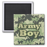 Army Boy Square Magnet