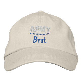 Army Brat Funny Military Embroidered Hat