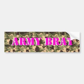 ARMY BRAT ON CAMO PRINT BUMPER STICKERS