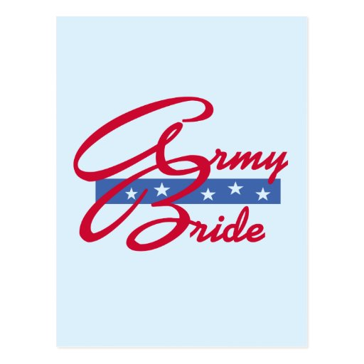 Army Bride T-shirts and Gifts Post Cards