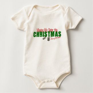 Army Brother Missing My Sister Baby Bodysuit