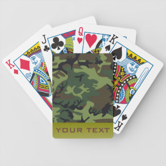 Army Camo Bicycle Playing Cards