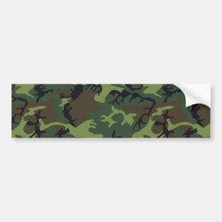 Army Camo Car Bumper Sticker