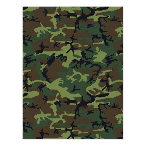 Army Camo Post Card