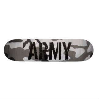 Army camo skateboard