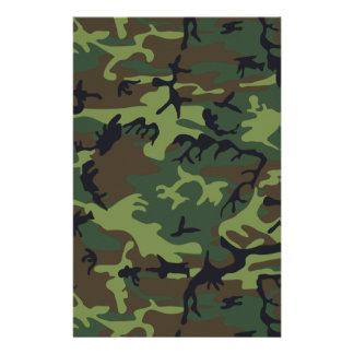 Army Camo Stationery Paper