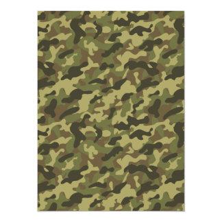 Army Camouflage 14 Cm X 19 Cm Invitation Card