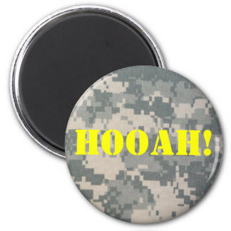 Army Camouflage ACU Pattern 6 Cm Round Magnet