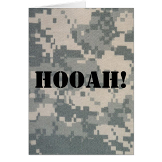 Army Camouflage ACU Pattern Greeting Card