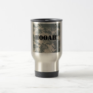 Army Camouflage ACU Pattern Stainless Steel Travel Mug