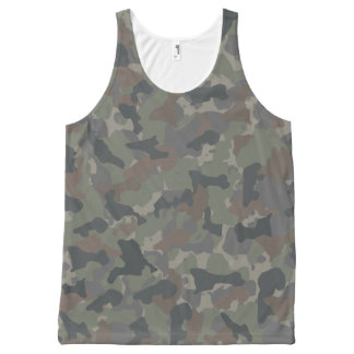 Army camouflage All-Over print singlet