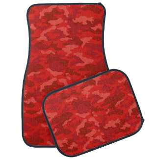 Army Camouflage Dark Red Color Car Mats Floor Mat