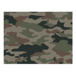 Army Camouflage in Green and Brown Military Postcard