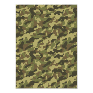 Army Camouflage 5.5x7.5 Paper Invitation Card
