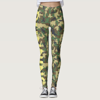 Army Camouflage Leggings running