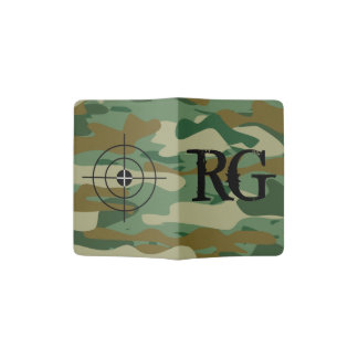 Army camouflage monogram passport holder