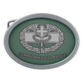 Army Combat Medical Badge Buckle Oval Belt Buckle