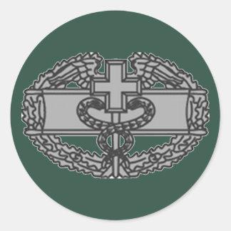 Army Combat Medical Badge Classic Round Sticker