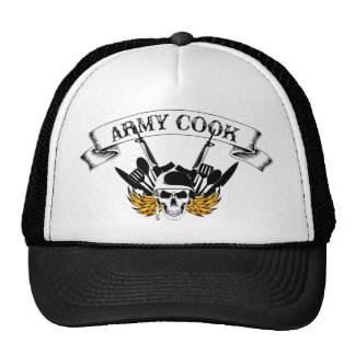 Army Cook Trucker Hats