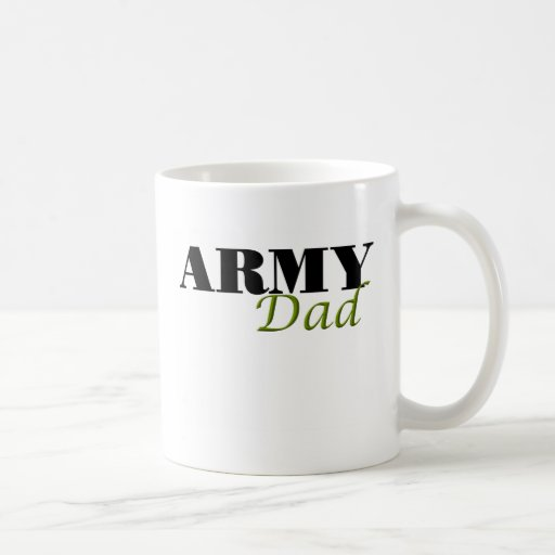 Army Dad (cursive) Coffee Mugs