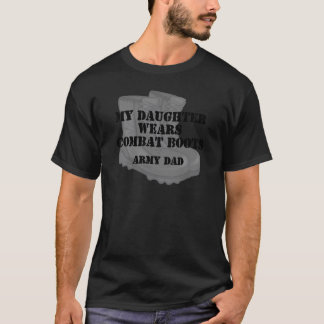 Army Dad Daughter Combat Boots T-Shirt