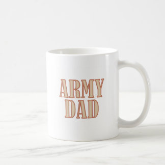 Army Dad Tan Coffee Mugs