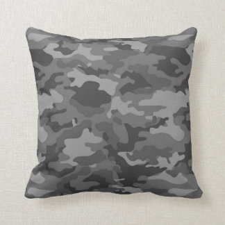 Army Dark Gray Camo Camouflage #1 Pillow