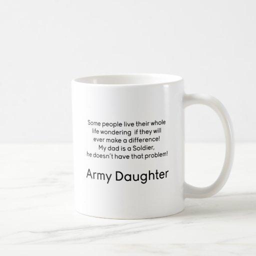 Army Daughter Dad No Problem Coffee Mug