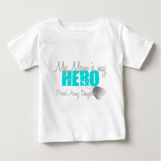 Army Daughter Mom is my Hero Baby T-Shirt