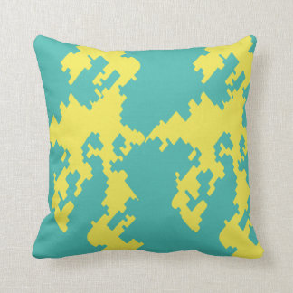 Army Digital Camouflage Blue Yellow Throw Pillow