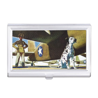 Army Dog Case For Business Cards